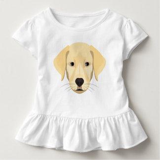 Camiseta Infantil Ouro Retriver do filhote de cachorro da ilustração