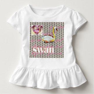 Camiseta Infantil Padrões do amor da cisne