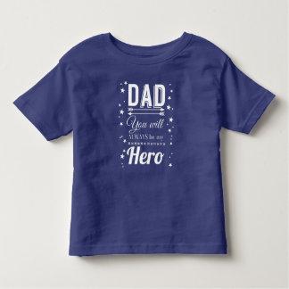 Camiseta Infantil Pai, você será sempre meu herói