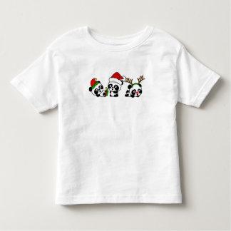 Camiseta Infantil Pandas do Natal