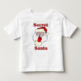 Camiseta Infantil Papai noel secreto no Natal