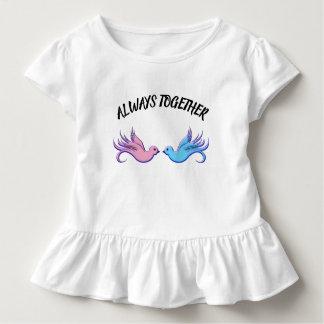 Camiseta Infantil Para sempre junto