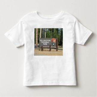 Camiseta Infantil Parque nacional de Yellowstone, sinal, Wyoming,