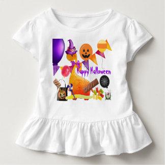 Camiseta Infantil Parte superior 53086 do plissado do Skeerie