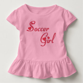 Camiseta Infantil Parte superior da menina do futebol