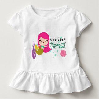 Camiseta Infantil Parte superior da sereia