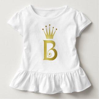 Camiseta Infantil Parte superior do bebé do monograma da letra da