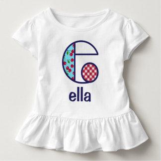 Camiseta Infantil Parte superior e do monograma das meninas da