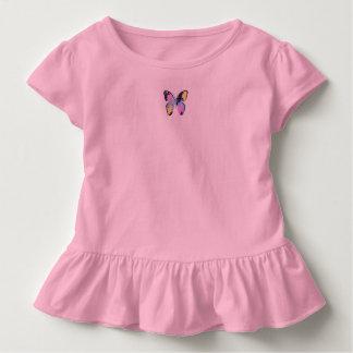 Camiseta Infantil Parte superior Ruffled do bebê - rosa com costume
