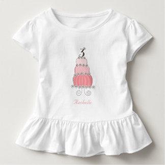 Camiseta Infantil Partido de aniversário de 3 anos chique da menina