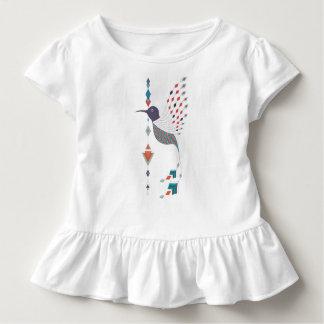 Camiseta Infantil Pássaro asteca tribal étnico do vintage
