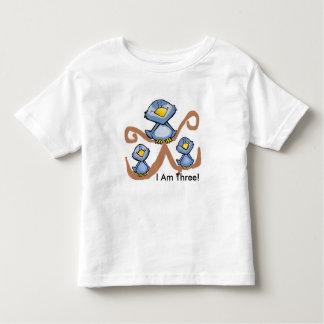 Camiseta Infantil Pássaros do aniversário