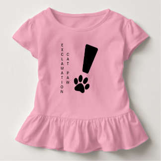 Camiseta Infantil PATA DO CAT DA EXCLAMAÇÃO! T do plissado da