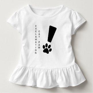 Camiseta Infantil PATA DO CAT DA EXCLAMAÇÃO! T do plissado da