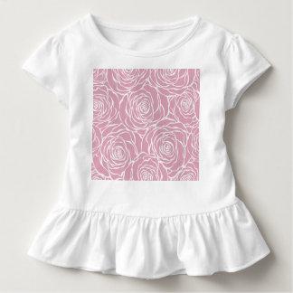 Camiseta Infantil Peônias, floral, branco, cor-de-rosa, teste