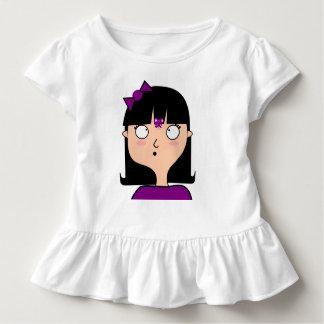 Camiseta Infantil Pingamento à volantes Agathe