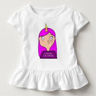 Camiseta Infantil Pingamento à volantes sou um licorne