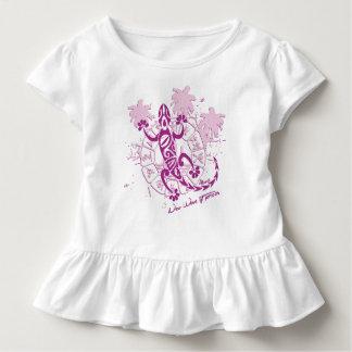 Camiseta Infantil Pingamento bebé rapariga horóscopo lagarto F
