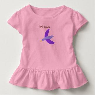 Camiseta Infantil pingamento rapariga bel pássaro