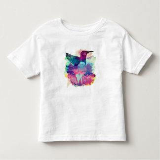 Camiseta Infantil Pintura do colibri