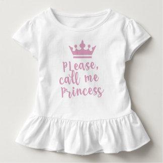 Camiseta Infantil Please Call Me Princess