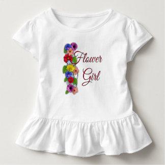 Camiseta Infantil Plissado da criança do florista que Wedding o