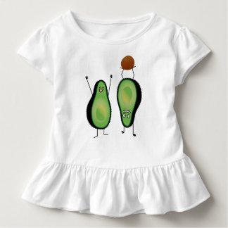 Camiseta Infantil Poço engraçado do verde do handstand dos aplausos