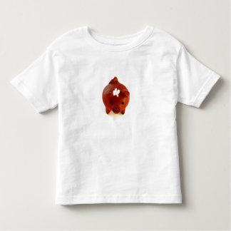 Camiseta Infantil Porco com o T da criança da flor