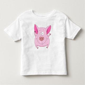 Camiseta Infantil Porco engraçado
