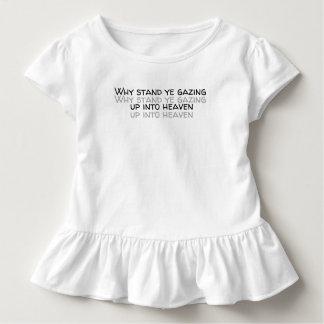 Camiseta Infantil Porque suporte YE que olha acima no céu