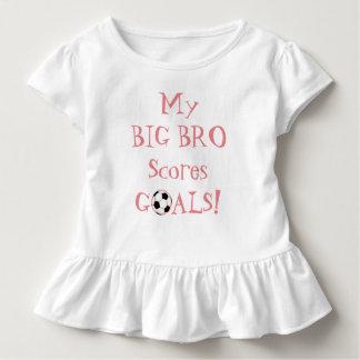Camiseta Infantil Pouco Sis… Meu Bro grande marc objetivos!