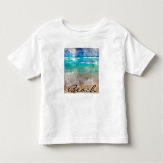 Camiseta Infantil Praia bonita de Cancun - aguarela de Digitas