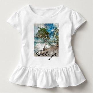 Camiseta Infantil Praia no Ambergris Caye Belize