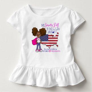 Camiseta Infantil Presidente futuro Criança Plissado T-shirt da