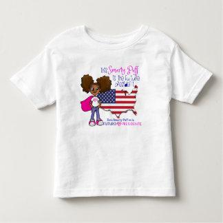 Camiseta Infantil Presidente futuro Criança T-shirt da menina