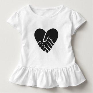 Camiseta Infantil Preto conectado amor