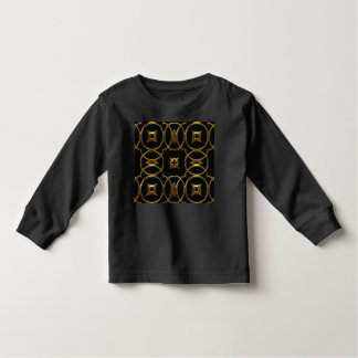 Camiseta Infantil Preto e elegante brilhante do teste padrão