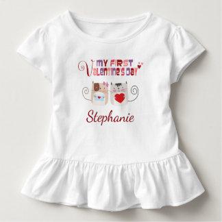 Camiseta Infantil Primeiros gatos do coração dos namorados