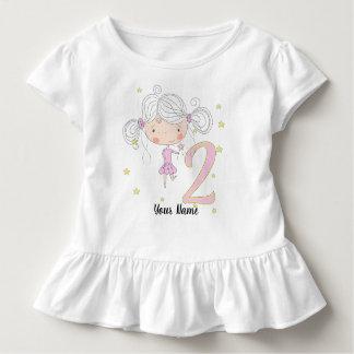 Camiseta Infantil Princesa do segundo aniversário
