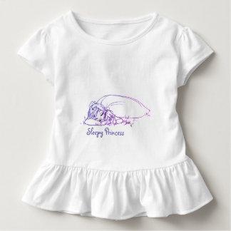 Camiseta Infantil Princesa sonolento