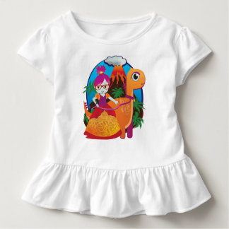Camiseta Infantil Princesa Vestir-se Vidro do dinossauro