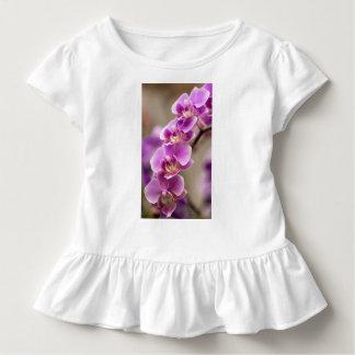Camiseta Infantil Profundamente - corrente de flor cor-de-rosa da