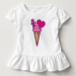 """Camiseta Infantil Projete para amantes do sorvete - """"eu amo o"""