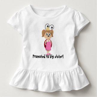 Camiseta Infantil Promovido ao t-shirt do plissado do joaninha da