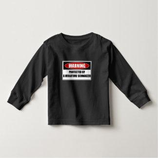 Camiseta Infantil Protegido por um Schnauzer diminuto