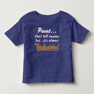 Camiseta Infantil Pssst… quase ACÇÃO DE GRAÇAS (branca)