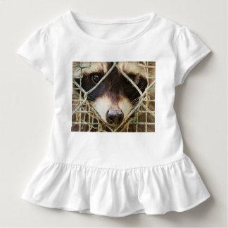 Camiseta Infantil raccon no T do plissado da criança