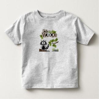 Camiseta Infantil Racoon bonito no t-shirt da criança das madeiras