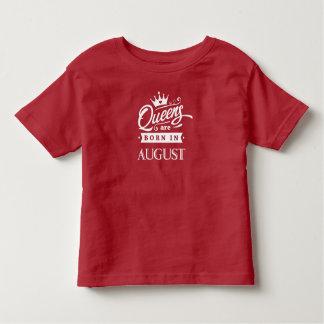 Camiseta Infantil Rainha de inglaterra are born em August