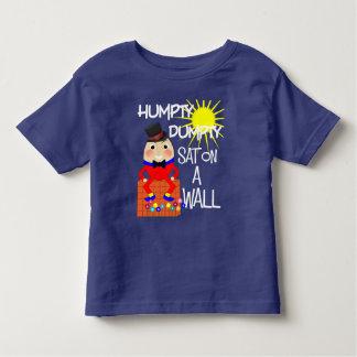 Camiseta Infantil Rima de berçário alegre Humpty do divertimento